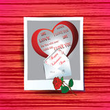 Card on Valentines Day Stock Image