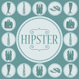 Card with various hipster accessories Royalty Free Stock Photo