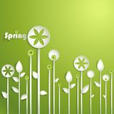 Vector stylized flowers Royalty Free Stock Images
