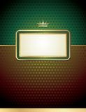 Card with vintage emblem Royalty Free Stock Images