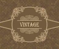 Card with vintage floral frame Royalty Free Stock Photo