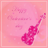 Card with violin Stock Images