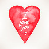 Card with a watercolor heart Royalty Free Stock Photos