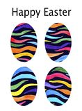 Card. Watercolor set with dark eggs for Easter. Happy Easter. On a white background stock illustration