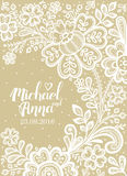 Card with a white lace. Stock Image