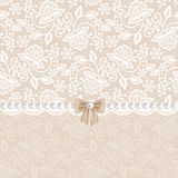 Card with white lace Royalty Free Stock Photography