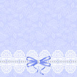 Card with white lace Royalty Free Stock Images