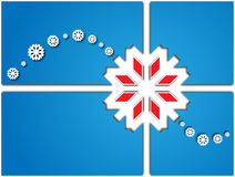 Card with white snowflakes Stock Photography