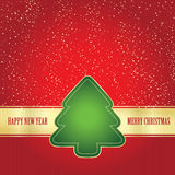 Card wit Christmas tree Stock Photography