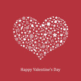 Card With Heart. Vector Stock Image