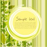 Card With Leaves And Sample Text Stock Image