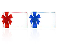 Card With Ribbons Stock Photography