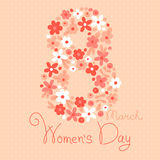 Card Womens Day on March 8 Royalty Free Stock Photography