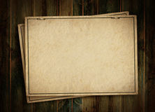 Card from  on the wooden background Royalty Free Stock Photos