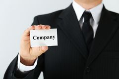 Card with word Company Royalty Free Stock Image
