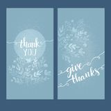 Card with the words thank you Stock Image