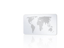 Card with world map 2 Royalty Free Stock Photography
