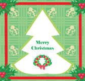 Card with Xmas tree Royalty Free Stock Photography