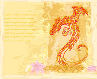 Card of year of the dragon Royalty Free Stock Photography