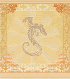 Card of year of the dragon Royalty Free Stock Image