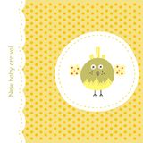 Card with yellow bird Stock Image