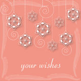 Card - your wishes. Eastern, christmas stock illustration