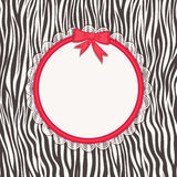 Card with zebra texture. Royalty Free Stock Images