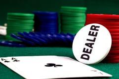 Carda o astack do chipsnd do póquer Imagens de Stock Royalty Free
