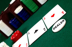 Carda o astack do chipsnd do póquer Imagens de Stock