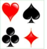 Carda o símbolo Fotografia de Stock Royalty Free