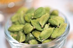 Cardamom. In Bowl Stock Photos