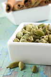 Cardamom and cinnamon Royalty Free Stock Photo