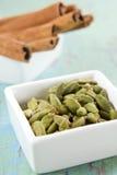 Cardamom and cinnamon Stock Images
