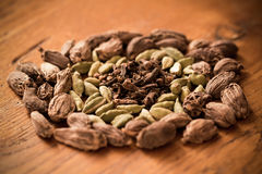 Cardamom & Cloves Royalty Free Stock Images
