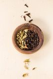 Cardamom and cloves Royalty Free Stock Photo