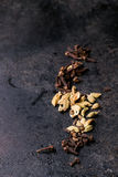 Cardamom and cloves Royalty Free Stock Images