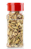 Cardamom in plastic container,  Stock Images