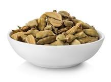 Cardamom in plate Stock Photo