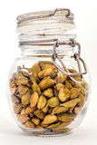 Cardamom pods in jar Stock Photos