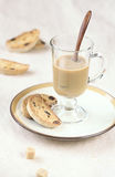 Cardamom Raisin Biscotti with a cup of coffee Stock Photography