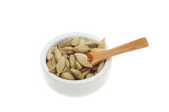 Cardamom in a ramekin Royalty Free Stock Photos