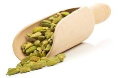 Cardamom seed pods in scoop Stock Photo