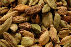 Cardamom. Is a seed that releases the flavor of many dishes Stock Photos