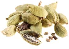 Cardamom seeds. Royalty Free Stock Photos