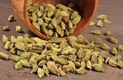Cardamom seeds in a bowl Stock Image