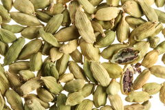 Cardamom seeds close up . Stock Images