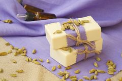 Cardamom soap Stock Photos