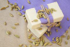 Cardamom soap Stock Photo