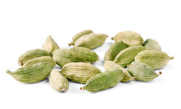 Cardamom on white Stock Images
