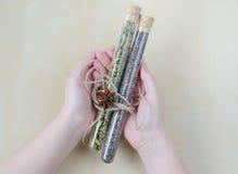 Cardamon del aroma, semillas del chia y bayas secos de Goji en el tablero de madera Imagenes de archivo